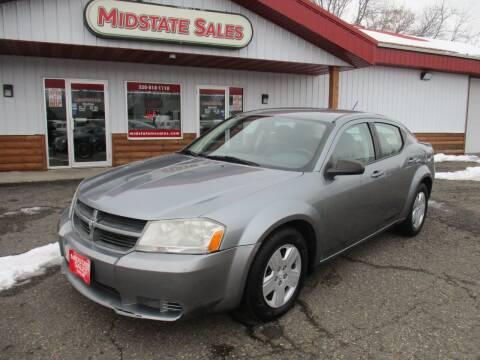 2008 Dodge Avenger for sale at Midstate Sales in Foley MN