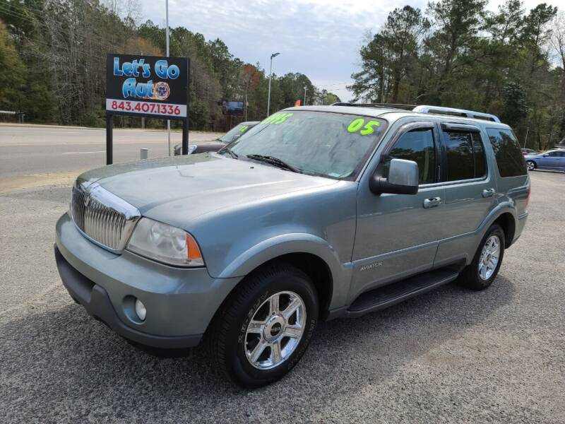 2005 Lincoln Aviator for sale at Let's Go Auto in Florence SC