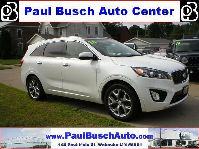 2016 Kia Sorento for sale at Paul Busch Auto Center Inc in Wabasha MN