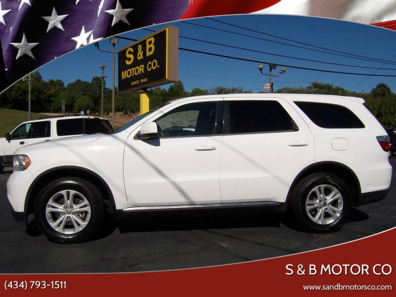2013 Dodge Durango for sale at S & B MOTOR CO in Danville VA