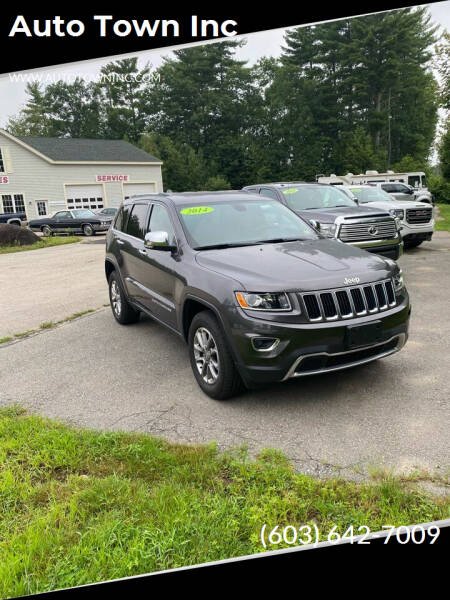 2014 Jeep Grand Cherokee for sale at Auto Town Inc in Brentwood NH