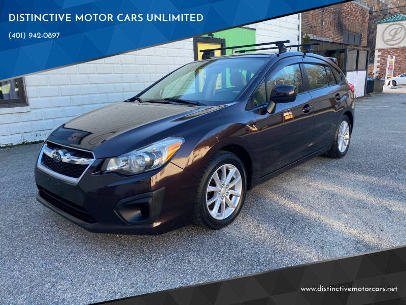 2012 Subaru Impreza for sale at DISTINCTIVE MOTOR CARS UNLIMITED in Johnston RI