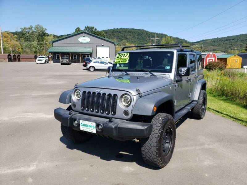2017 Jeep Wrangler Unlimited for sale at Greens Auto Mart Inc. in Wysox PA