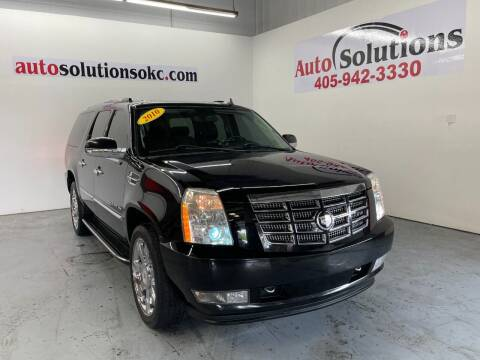 2010 Cadillac Escalade ESV for sale at Auto Solutions in Warr Acres OK