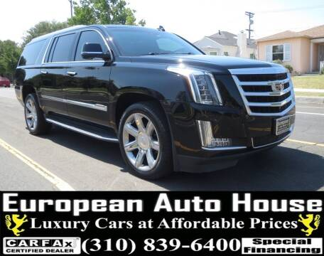 2016 Cadillac Escalade ESV for sale at European Auto House in Los Angeles CA