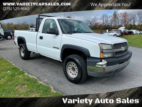 2004 Chevrolet Silverado 2500HD for sale at Variety Auto Sales in Abingdon VA