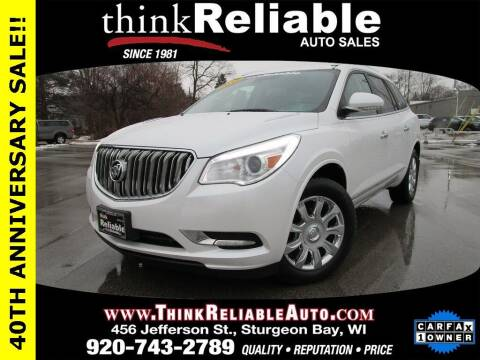 2017 Buick Enclave for sale at RELIABLE AUTOMOBILE SALES, INC in Sturgeon Bay WI