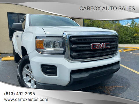 2015 GMC Canyon for sale at Carfox Auto Sales in Tampa FL