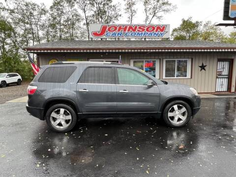 2011 GMC Acadia for sale at Johnson Car Company llc in Crown Point IN