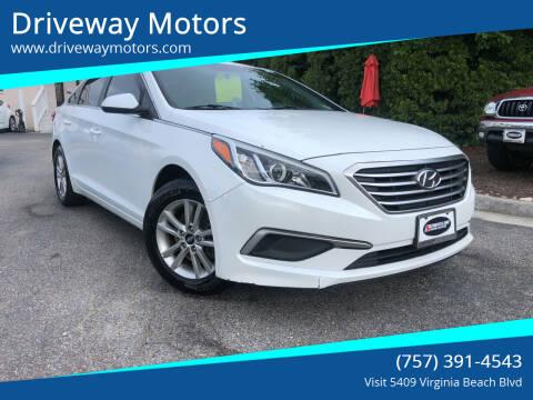 2017 Hyundai Sonata for sale at Driveway Motors in Virginia Beach VA