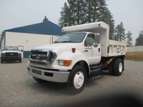 2011 Ford F750 5 Yard Dump Bed for sale at BJ'S COMMERCIAL TRUCKS in Spokane Valley WA