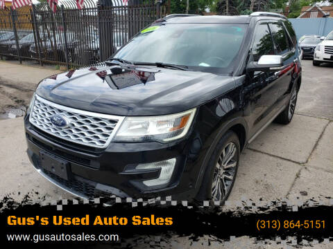 2016 Ford Explorer for sale at Gus's Used Auto Sales in Detroit MI