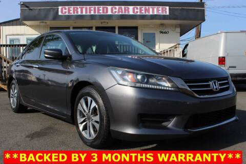 2013 Honda Accord for sale at CERTIFIED CAR CENTER in Fairfax VA