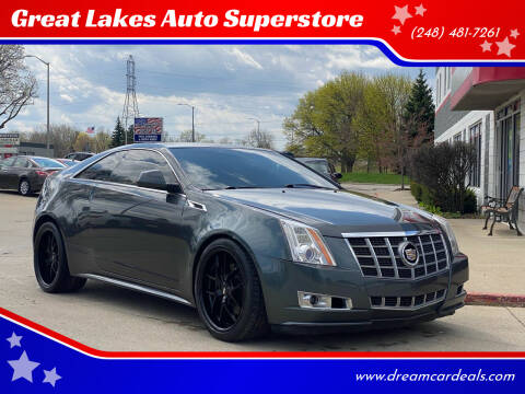 2012 Cadillac CTS for sale at Great Lakes Auto Superstore in Pontiac MI