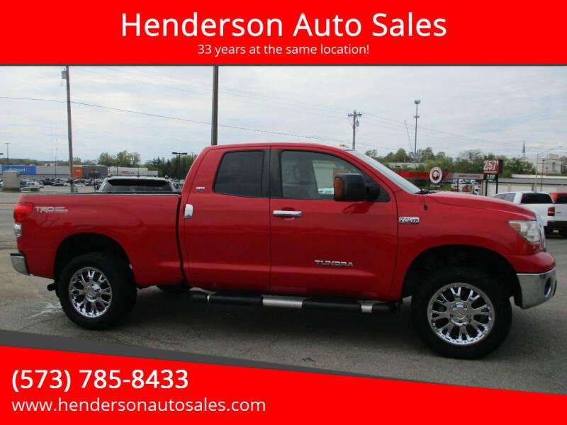 2007 Toyota Tundra for sale at Henderson Auto Sales in Poplar Bluff MO
