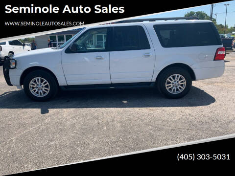 2013 Ford Expedition EL for sale at Seminole Auto Sales in Seminole OK