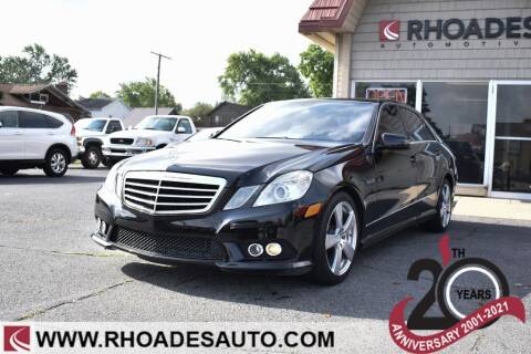 2010 Mercedes-Benz E-Class for sale at Rhoades Automotive Inc. in Columbia City IN