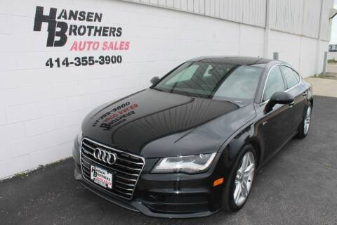 2014 Audi A7 for sale at HANSEN BROTHERS AUTO SALES in Milwaukee WI