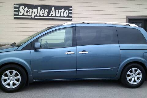 2008 Nissan Quest for sale at STAPLES AUTO SALES in Staples MN
