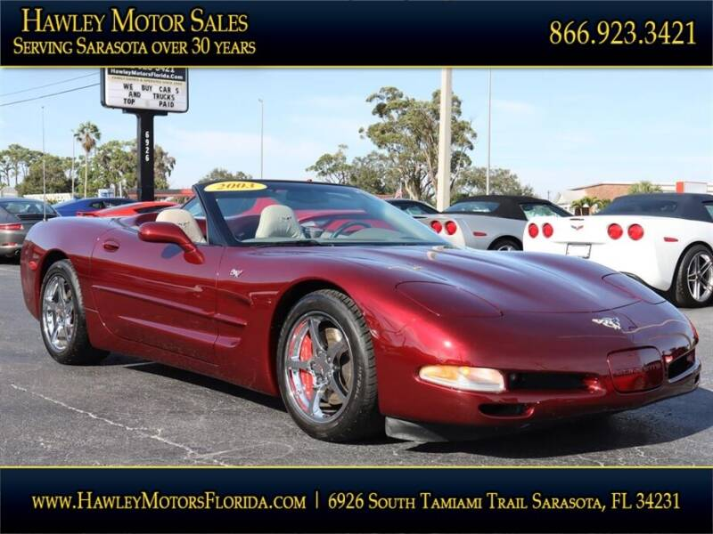 2003 Chevrolet Corvette for sale at Hawley Motor Sales in Sarasota FL