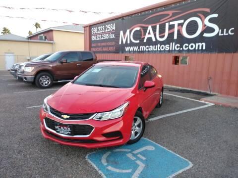 2017 Chevrolet Cruze for sale at MC Autos LLC in Pharr TX