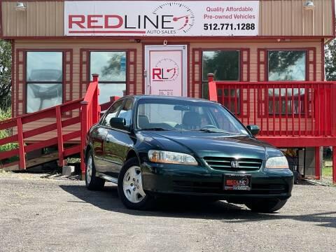 2001 Honda Accord for sale at REDLINE AUTO SALES LLC in Cedar Creek TX