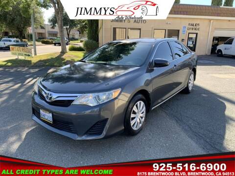 2012 Toyota Camry for sale at JIMMY'S AUTO WHOLESALE in Brentwood CA