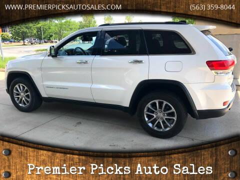 2015 Jeep Grand Cherokee for sale at Premier Picks Auto Sales in Bettendorf IA