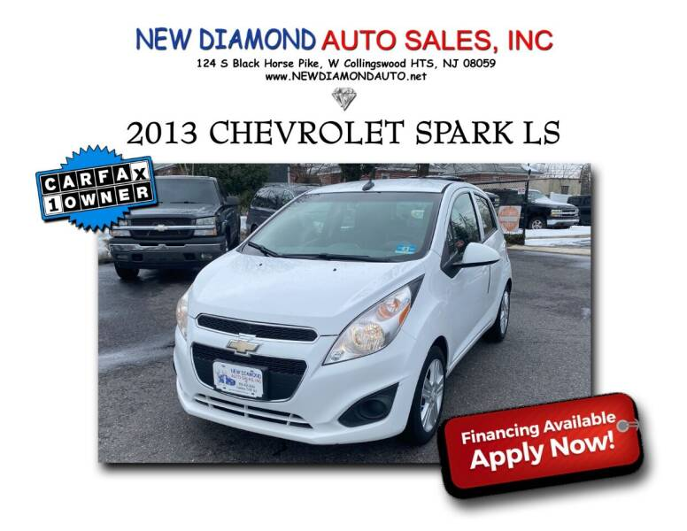 2013 Chevrolet Spark for sale at New Diamond Auto Sales, INC in West Collingswood NJ