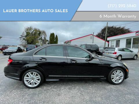2008 Mercedes-Benz C-Class for sale at LAUER BROTHERS AUTO SALES in Dover PA