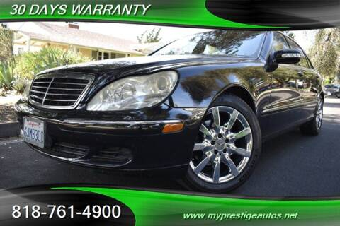 2003 Mercedes-Benz S-Class for sale at Prestige Auto Sports Inc in North Hollywood CA