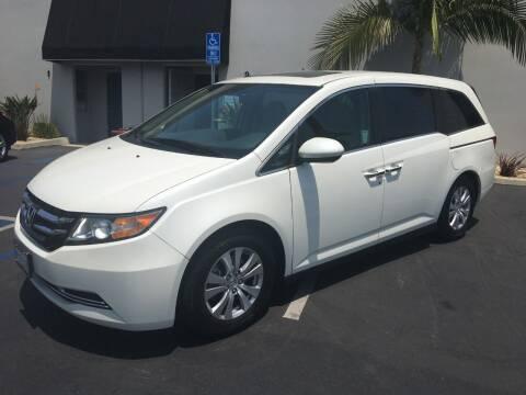 2015 Honda Odyssey for sale at MANGIONE MOTORS ORANGE COUNTY in Costa Mesa CA