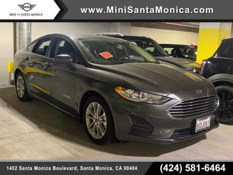 2019 Ford Fusion Hybrid for sale at MINI OF SANTA MONICA in Santa Monica CA