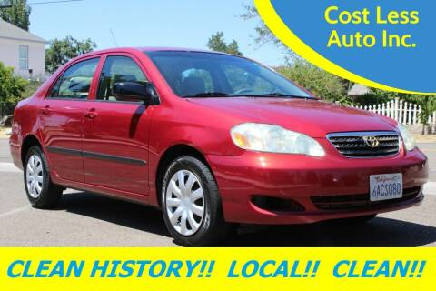 2007 Toyota Corolla for sale at Cost Less Auto Inc. in Rocklin CA
