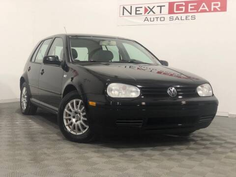 2004 Volkswagen Golf for sale at Next Gear Auto Sales in Westfield IN