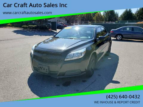 2013 Chevrolet Malibu for sale at Car Craft Auto Sales Inc in Lynnwood WA