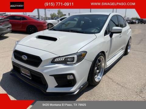 2020 Subaru WRX for sale at SOUTHWEST AUTO GROUP-EL PASO in El Paso TX