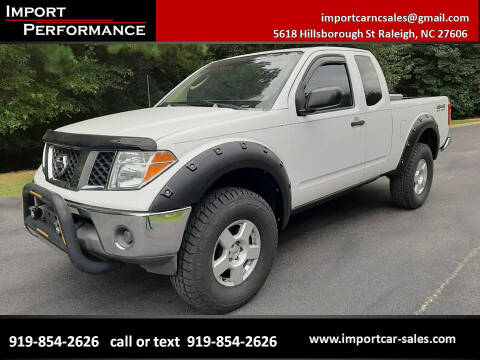 2006 Nissan Frontier for sale at Import Performance Sales in Raleigh NC