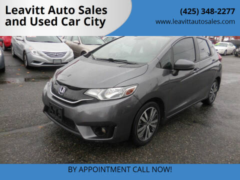 2015 Honda Fit for sale at Leavitt Auto Sales and Used Car City in Everett WA