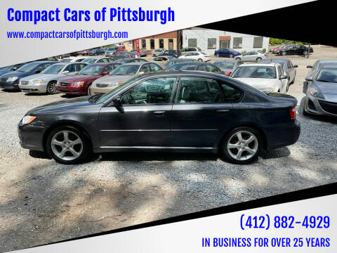 2009 Subaru Legacy for sale at Compact Cars of Pittsburgh in Pittsburgh PA