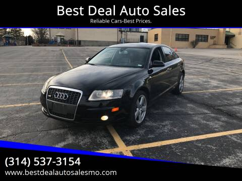 2008 Audi A6 for sale at Best Deal Auto Sales in Saint Charles MO