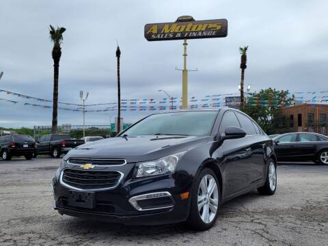 2015 Chevrolet Cruze for sale at A MOTORS SALES AND FINANCE - 6226 San Pedro Lot in San Antonio TX