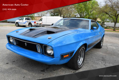 1973 Ford Mustang Mach 1 FASTBACK for sale at American Auto Center in Austin TX