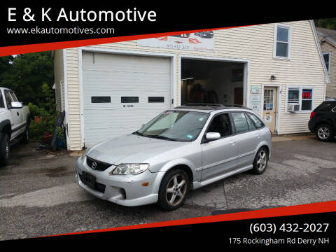 2002 Mazda Protege5 for sale at E & K Automotive in Derry NH