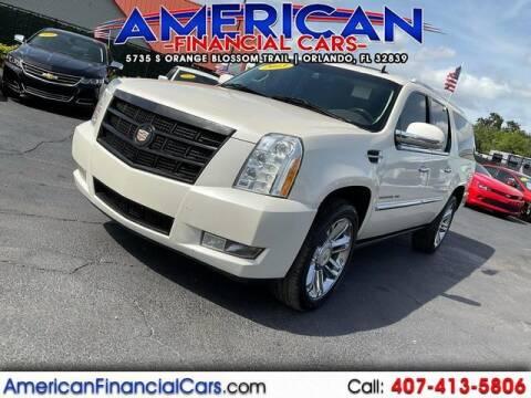 2013 Cadillac Escalade ESV for sale at American Financial Cars in Orlando FL