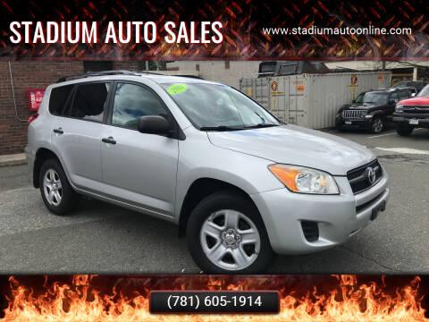 2011 Toyota RAV4 for sale at Stadium Auto Sales in Everett MA