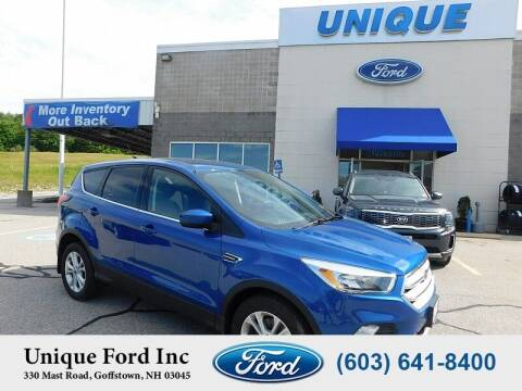 2019 Ford Escape for sale at Unique Motors of Chicopee - Unique Ford in Goffstown NH