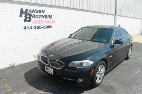 2013 BMW 5 Series for sale at HANSEN BROTHERS AUTO SALES in Milwaukee WI