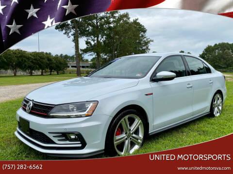 2017 Volkswagen Jetta for sale at United Motorsports in Virginia Beach VA