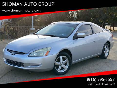 2005 Honda Accord for sale at SHOMAN MOTORS in Davis CA
